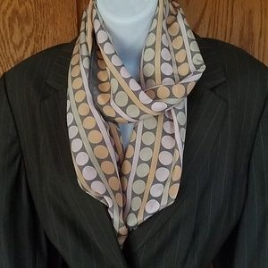 Silk scarf from Casual Corner. Dots and stripes